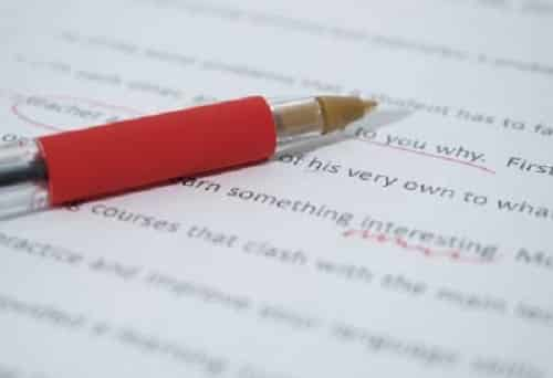 proofreading test